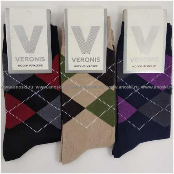 628. Носки мужские хлопковые Veronis М3А2