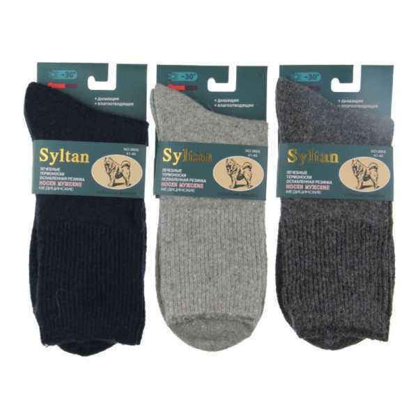 1182. Носки мужские шерстяные Syltan-9809E-1