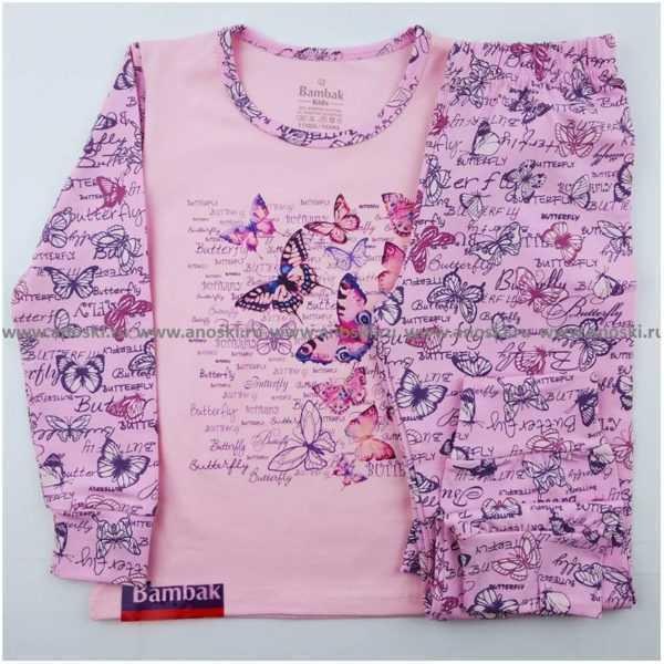 1103. Пижама для девочек Bambak 1002